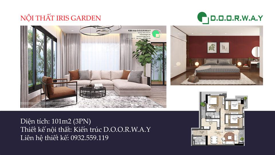 Ảnh tiêu biểu- Nét hiện đại trong nội thất căn hộ 101m2 Iris Garden