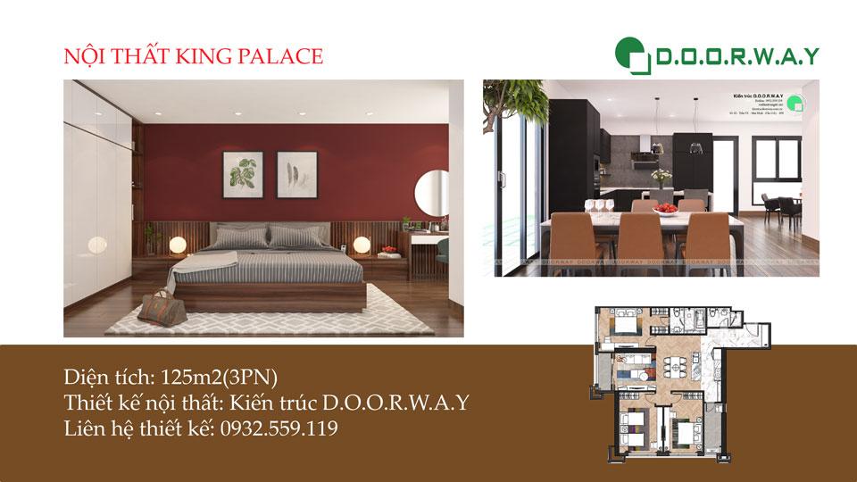 Ảnh tiêu biểu- Mẫu nội thất căn hộ 125m2 King Palace - Căn hộ 3PN đẹp