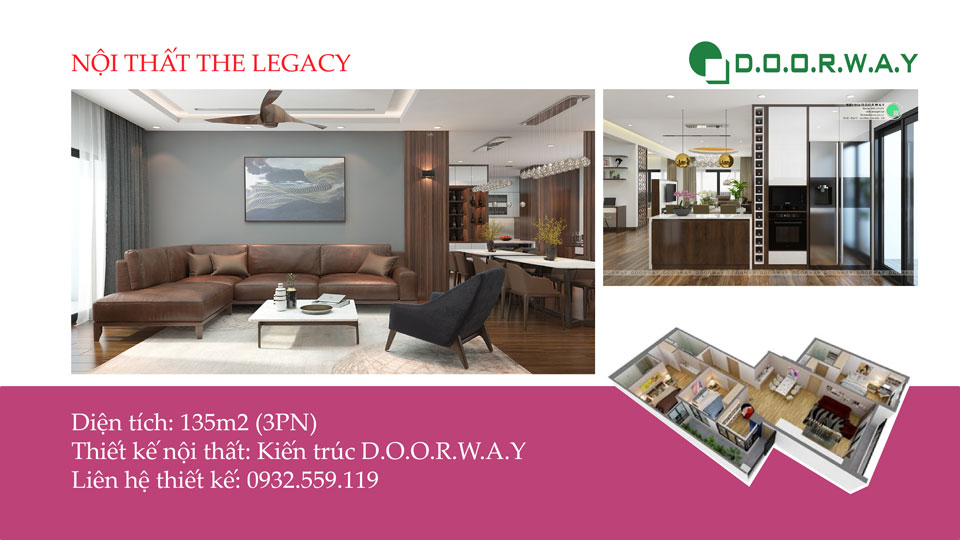 Ảnh tiêu biểu - Khám phá nội thất căn hộ 135m2 The Legacy Thanh Xuân
