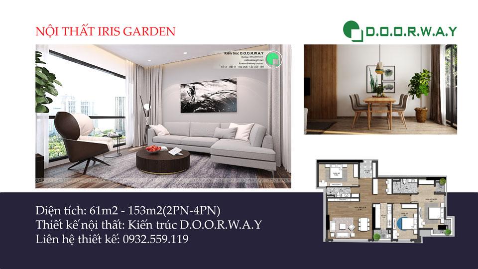 Ảnh tiêu biểu - [Hot] Thiết kế nội thất chung cư Iris Garden hiện đại, sang trọng
