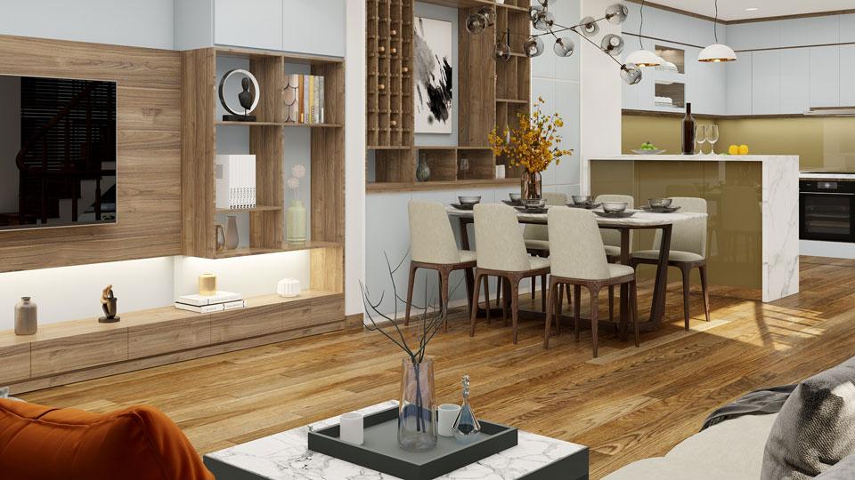 Ảnh tiêu biểu- [Full] Thiết kế nội thất nhà ống mặt tiền 5m đẹp nhất