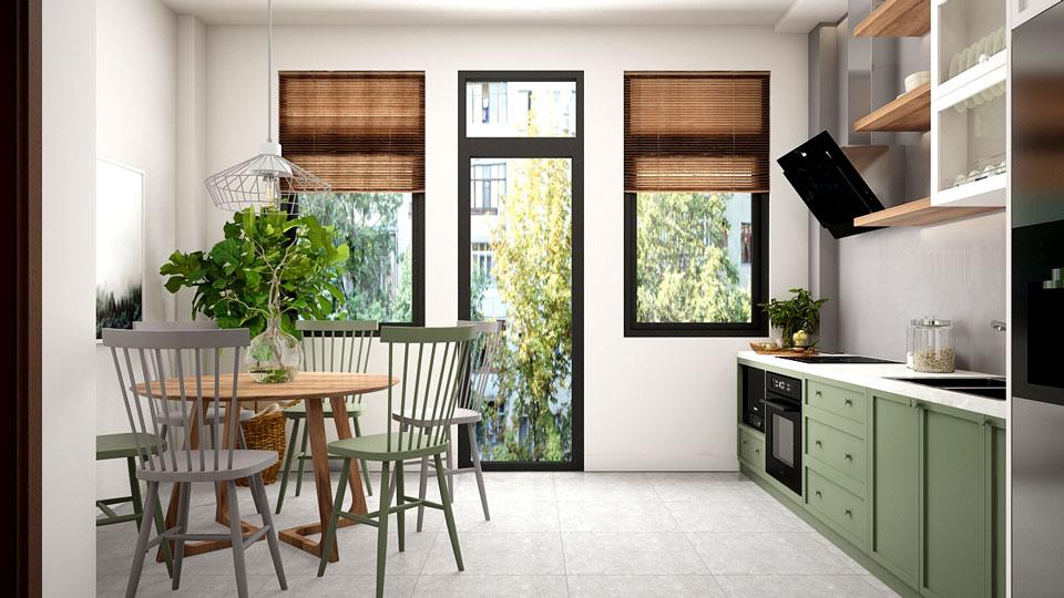 Ảnh tiêu biểu- Mẫu thiết kế thi công nội thất nhà liền kề xanh mát
