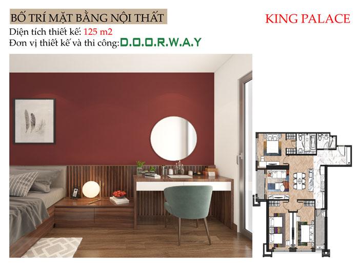 MB- Mẫu nội thất căn hộ 125m2 King Palace - Căn hộ 3PN đẹp