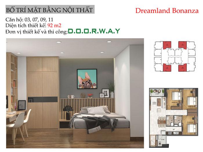 MB- Gợi ý mẫu nội thất căn hộ 92m2 Dreamland Bonanza đẹp hiện đại