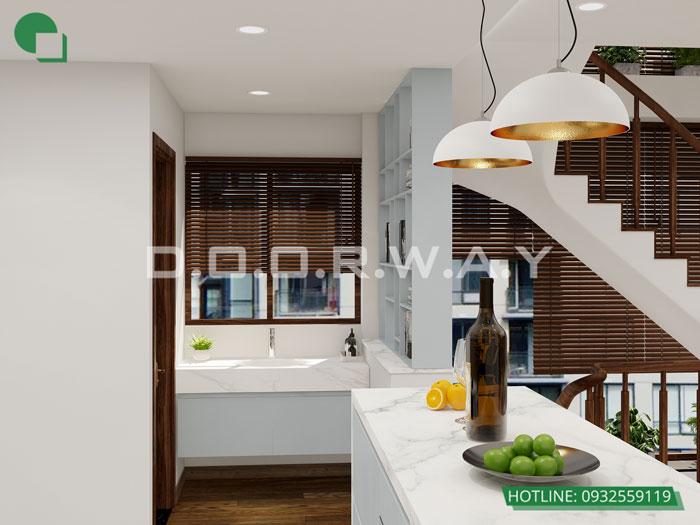 PB2- [Full] Thiết kế nội thất nhà ống mặt tiền 5m đẹp nhất