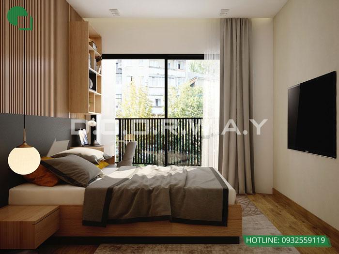 PN1(2) - [Hot] Thiết kế nội thất chung cư Iris Garden hiện đại, sang trọng