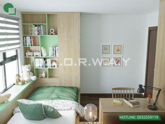 PN3(1)- Ấn tượng với nội thất chung cư 3 phòng ngủ tại Hateco Apollo - a Hưng