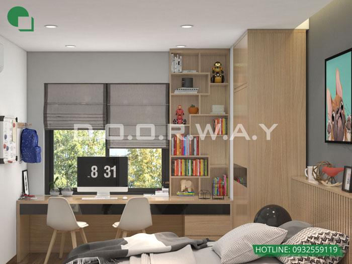 PN3(2)- Gợi ý mẫu nội thất căn hộ 92m2 Dreamland Bonanza đẹp hiện đại