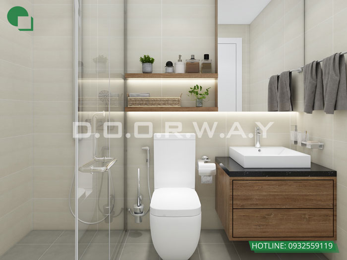 WC(1) - Nội thất căn hộ 110m2 The Legacy đẹp đáng đầu tư