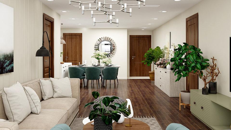 Mẫu thiết kế nội thất chung cư tân cổ điển đẹp hiện đại