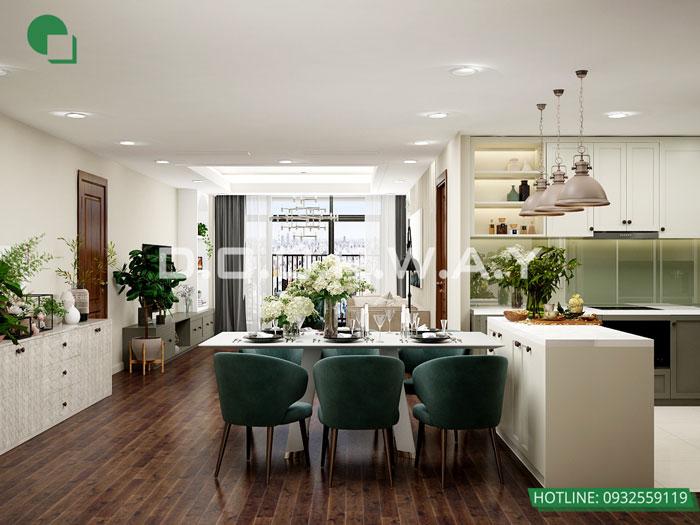 PKB -PK - Mẫu nội thất chung cư tân cổ điển đẹp sang trọng