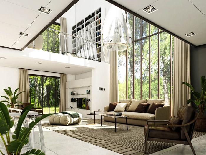 1-Thiết kế nội thất phòng khách biệt thự hiện đại: 4 lưu ý cần nhớ