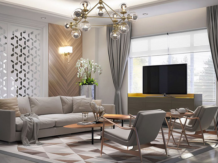 3-Thiết kế nội thất phòng khách biệt thự hiện đại: 4 lưu ý cần nhớ