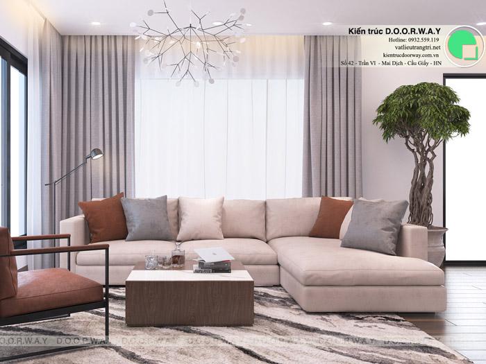 6-Thiết kế nội thất phòng khách biệt thự hiện đại: 4 lưu ý cần nhớ. Mẫu 6 by Doorway