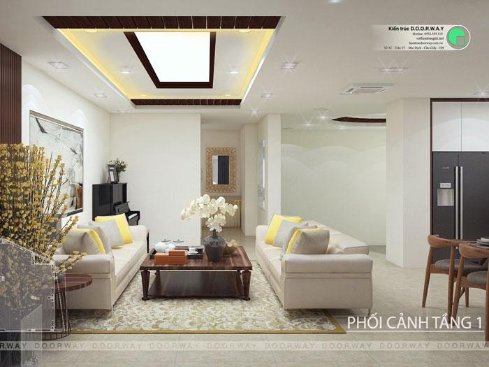 (1)Thiết kế thi công nội thất nhà ống 5 tầng