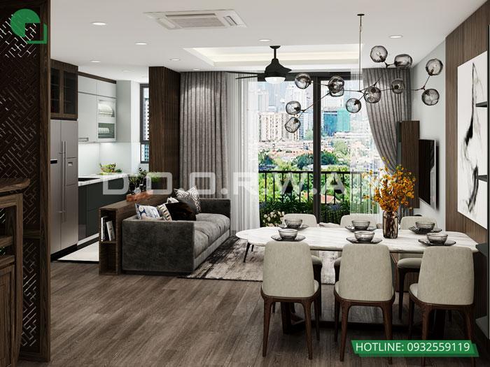 1- [HOT] Mẫu nội thất chung cư hiện đại đẹp - Căn 2PN, 3PN