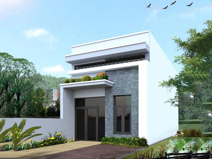 1- Các mẫu thiết kế nhà cấp 4 1 tầng đẹp năm 2020