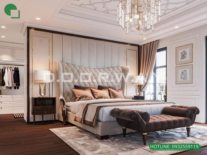 1- Cách thiết kế phòng ngủ có phòng thay đồ đẹp sang trọng