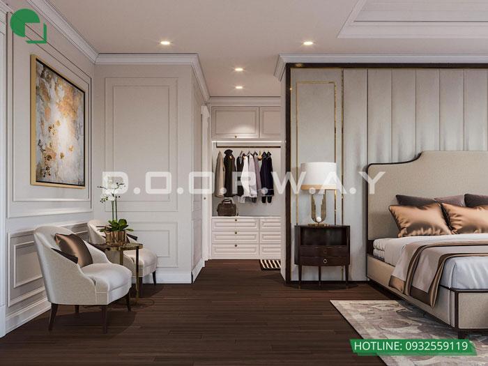 1a- Cách thiết kế phòng ngủ có phòng thay đồ đẹp sang trọng