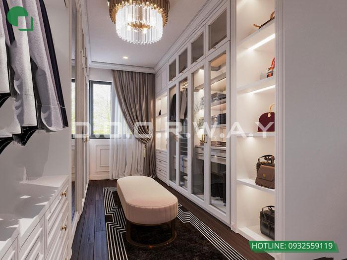 1b- Cách thiết kế phòng ngủ có phòng thay đồ đẹp sang trọng