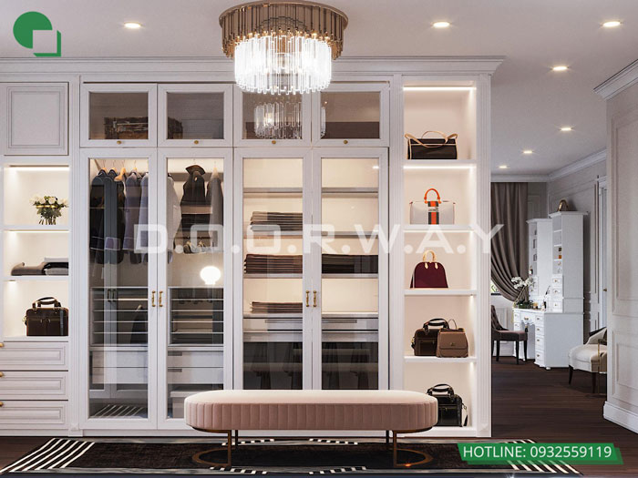 1c- Cách thiết kế phòng ngủ có phòng thay đồ đẹp sang trọng