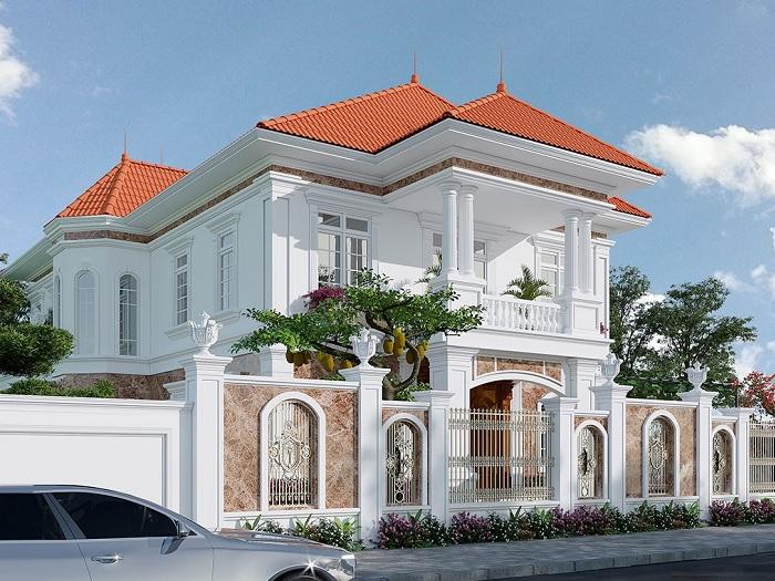 2-4 mẫu thiết kế biệt thự nhà vườn 2 tầng đẹp hút hồn
