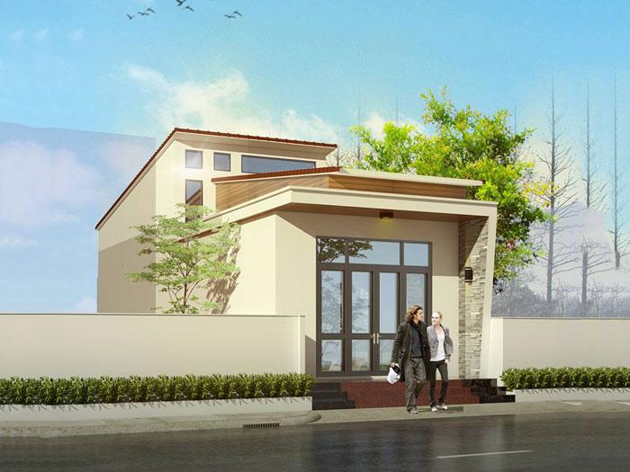 2- Các mẫu thiết kế nhà cấp 4 1 tầng đẹp năm 2020