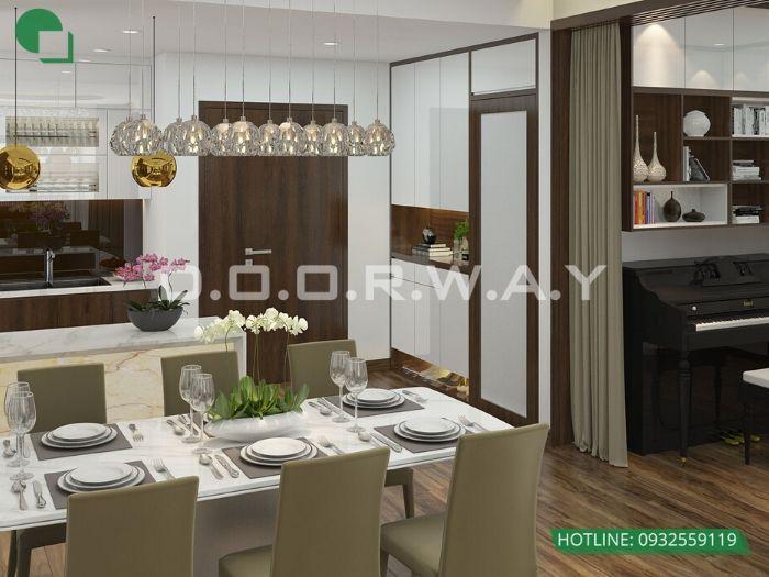 2-5 bí quyết thiết kế nội thất phòng ăn chung cư ấm cúng