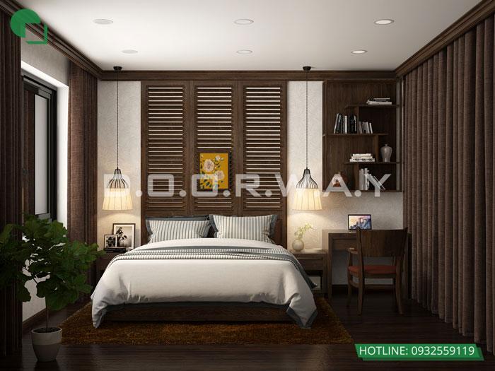 2- Cách thiết kế phòng ngủ có phòng thay đồ đẹp sang trọng