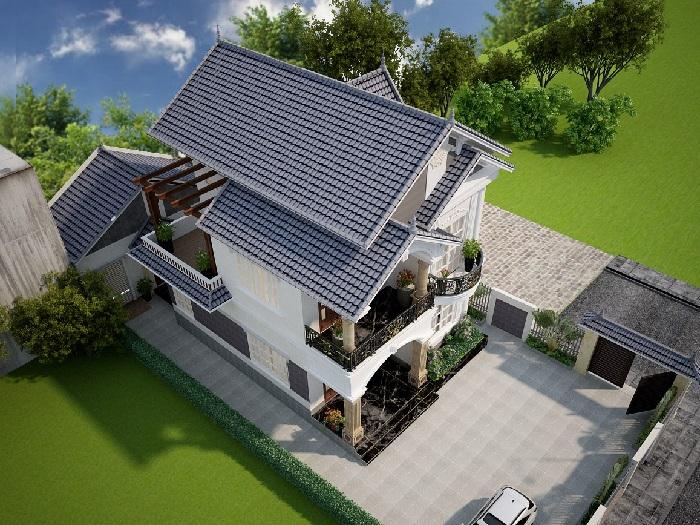 3-4 mẫu thiết kế biệt thự nhà vườn 2 tầng đẹp hút hồn