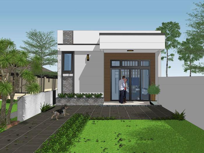 3- Các mẫu thiết kế nhà cấp 4 1 tầng đẹp năm 2020