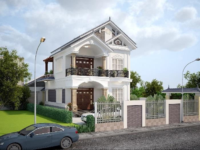 4-4 mẫu thiết kế biệt thự nhà vườn 2 tầng đẹp hút hồn