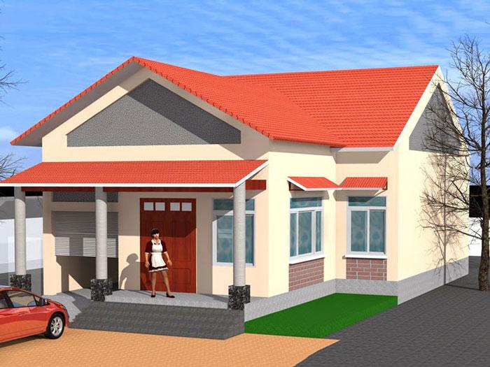 4- Các mẫu thiết kế nhà cấp 4 1 tầng đẹp năm 2020