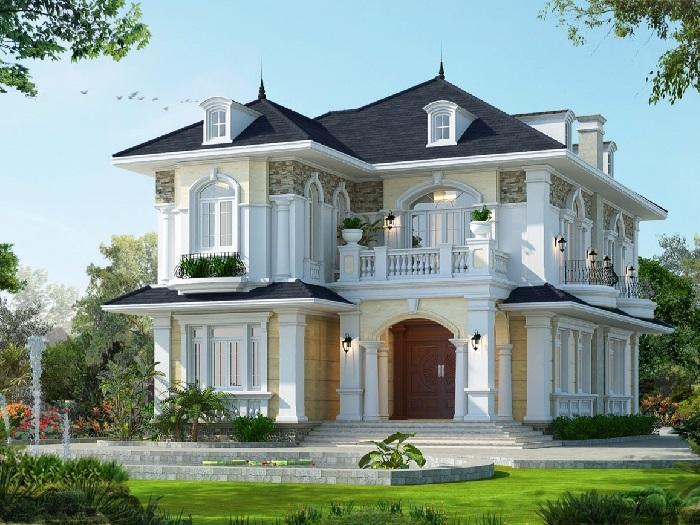 5-4 mẫu thiết kế biệt thự nhà vườn 2 tầng đẹp hút hồn