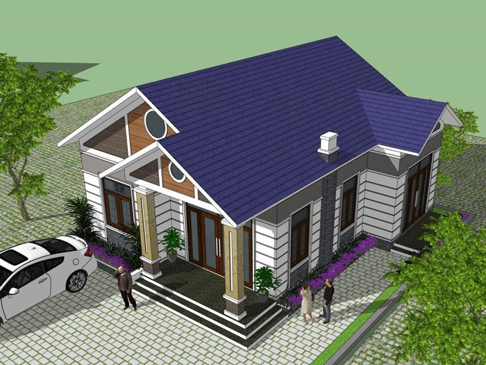 5- Các mẫu thiết kế nhà cấp 4 1 tầng đẹp năm 2020