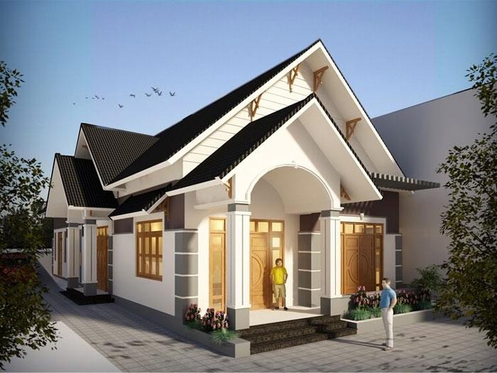 6- Các mẫu thiết kế nhà cấp 4 1 tầng đẹp năm 2020