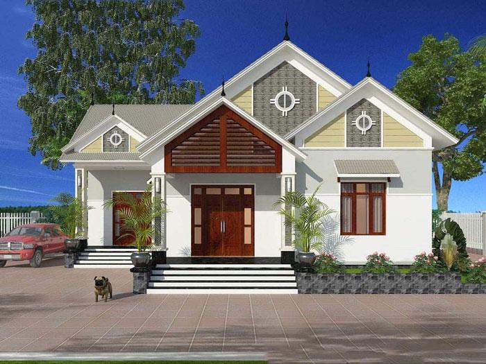 7- Các mẫu thiết kế nhà cấp 4 1 tầng đẹp năm 2020