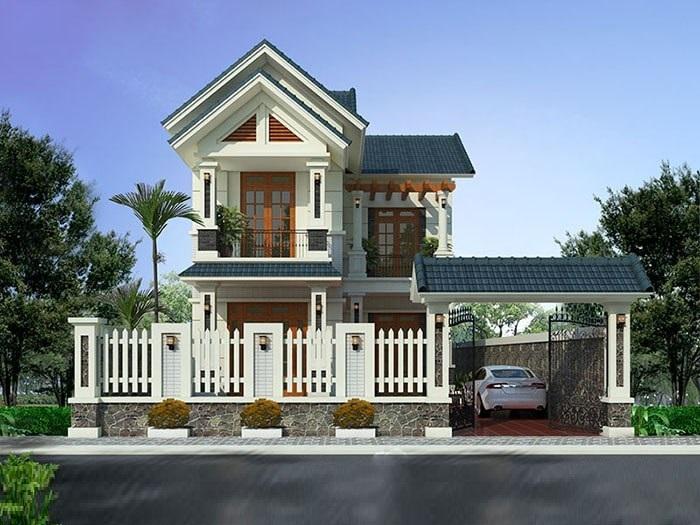 8-4 mẫu thiết kế biệt thự nhà vườn 2 tầng đẹp hút hồn