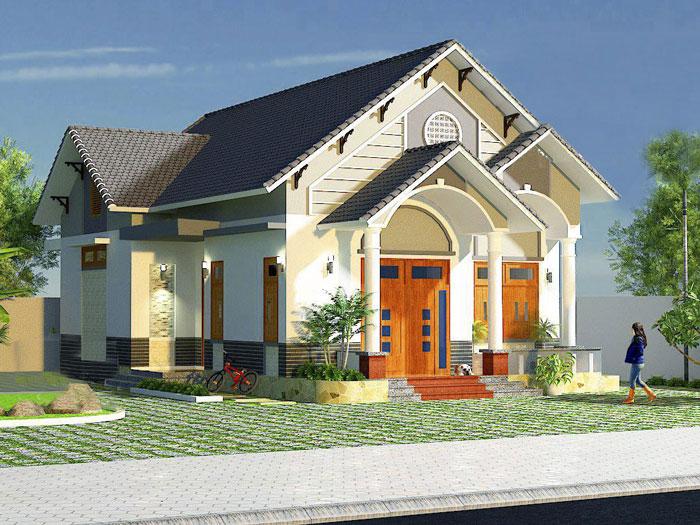 8- Các mẫu thiết kế nhà cấp 4 1 tầng đẹp năm 2020