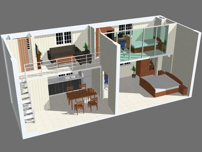 9- Các mẫu thiết kế nhà cấp 4 1 tầng đẹp năm 2020