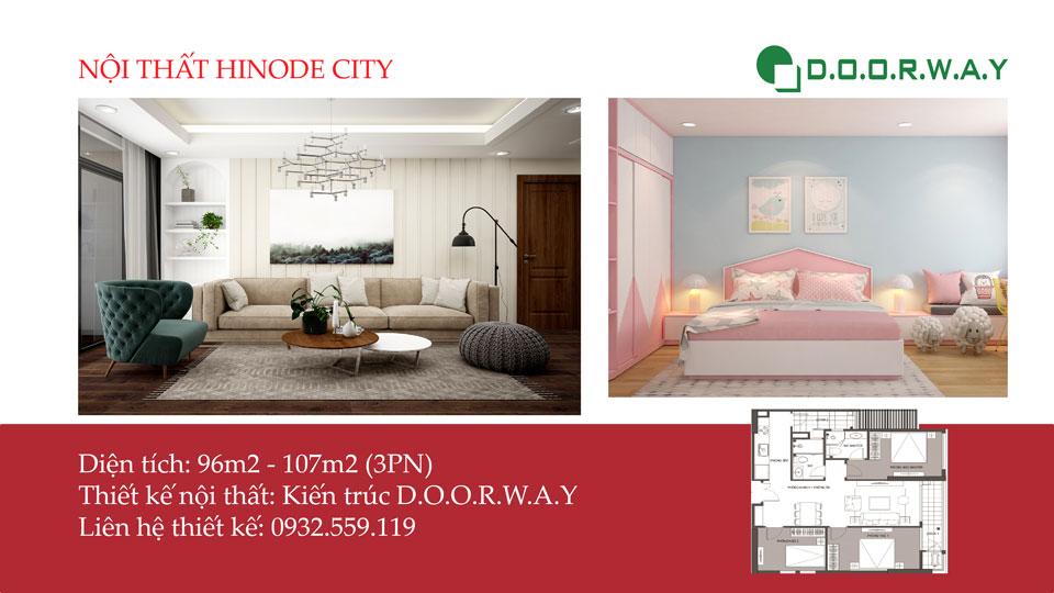 Ảnh tiêu biểu - Vẻ đẹp hiện đại trong nội thất căn 3 phòng ngủ Hinode City