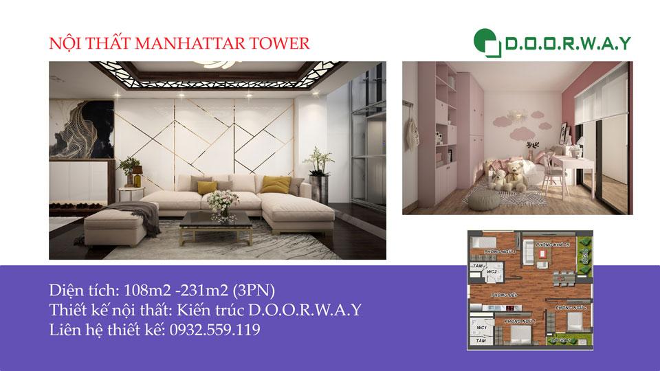 Ảnh tiêu biểu - Ngắm trọn nội thất căn 3 phòng ngủ Manhattan Tower