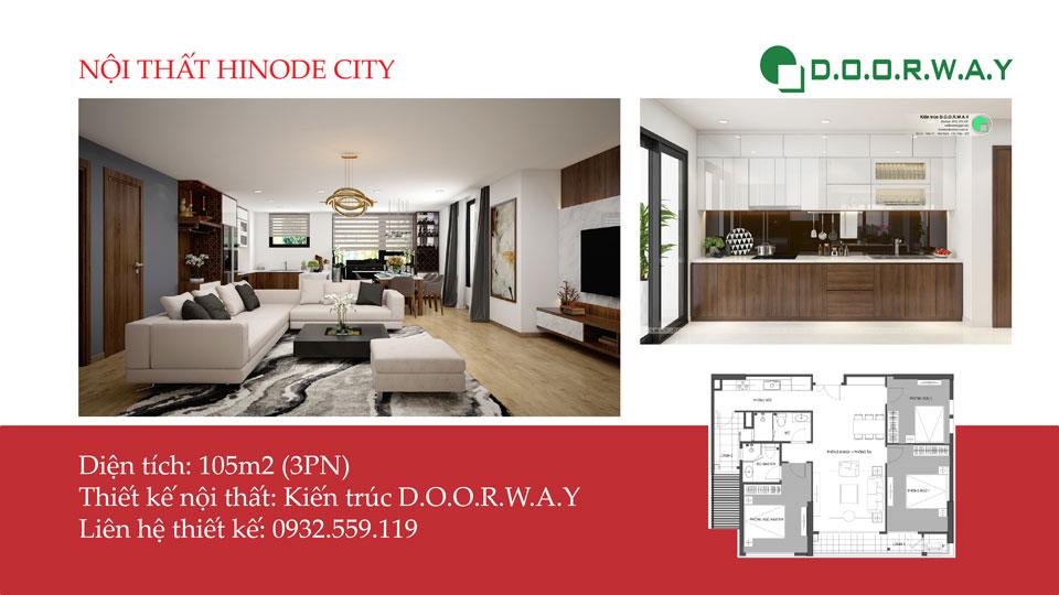 Ảnh tiêu biểu - Nội thất căn hộ 105m2 Hinode City với cách bố trí tối ưu