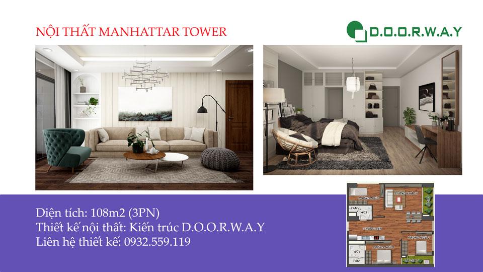 Ảnh tiêu biểu - Gợi ý nội thất căn hộ 108m2 Manhattan Tower đẹp