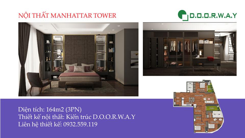 Ảnh tiêu biểu - Nội thất căn hộ 164m2 Manhattan Tower cho đại gia đình