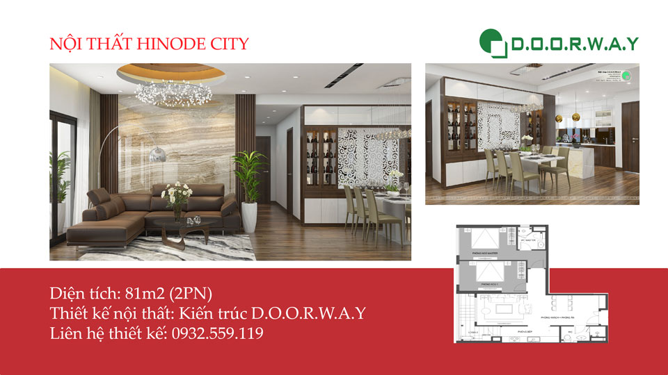 Ảnh tiêu biểu- Ngắm nhìn thiết kế nội thất căn hộ 81m2 Hinode City | 2020