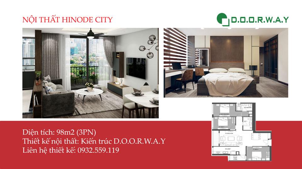 Ảnh tiêu biểu- Làm đẹp nội thất căn hộ 98m2 Hinode City với vật liệu gỗ