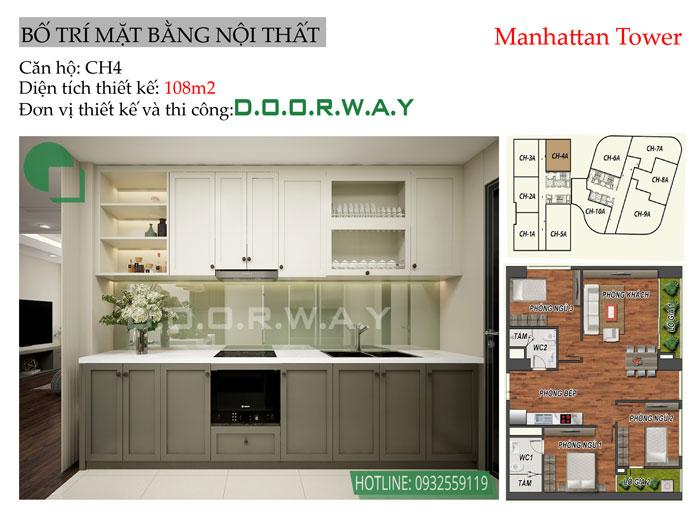 MB-108m2 - Ngắm trọn nội thất căn 3 phòng ngủ Manhattan Tower