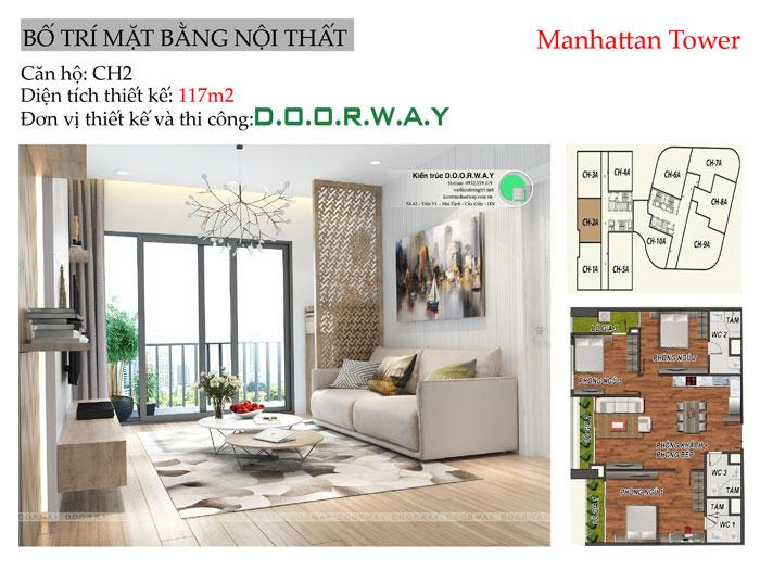 MB-117m2- Thiết kế nội thất chung cư Manhattan Tower | 2020