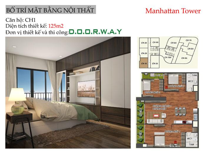 MB-125m2 - Vẻ đẹp hiện đại của nội thất căn hộ 125m2 Manhattan Tower
